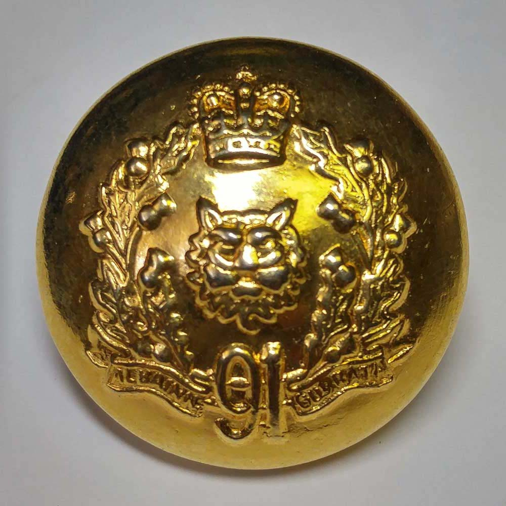 "Argyll & Sutherland Highlndr of Can, 91st, Brass, (14mm, 11/16"") - Click Image to Close"