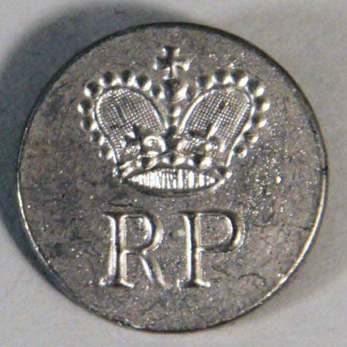 Button Royal Provincial, Pewter