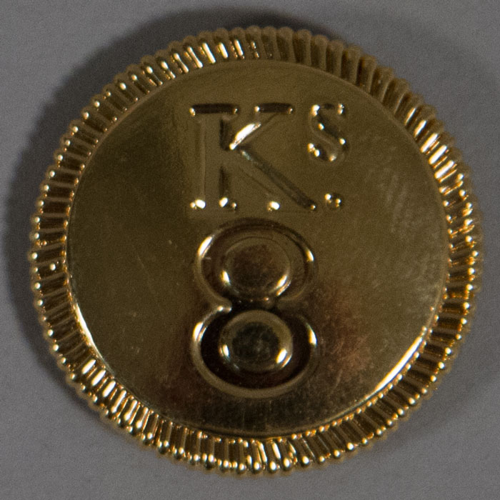 "King's 8th Regiment, Officer, Gold, 25mm (1"")"