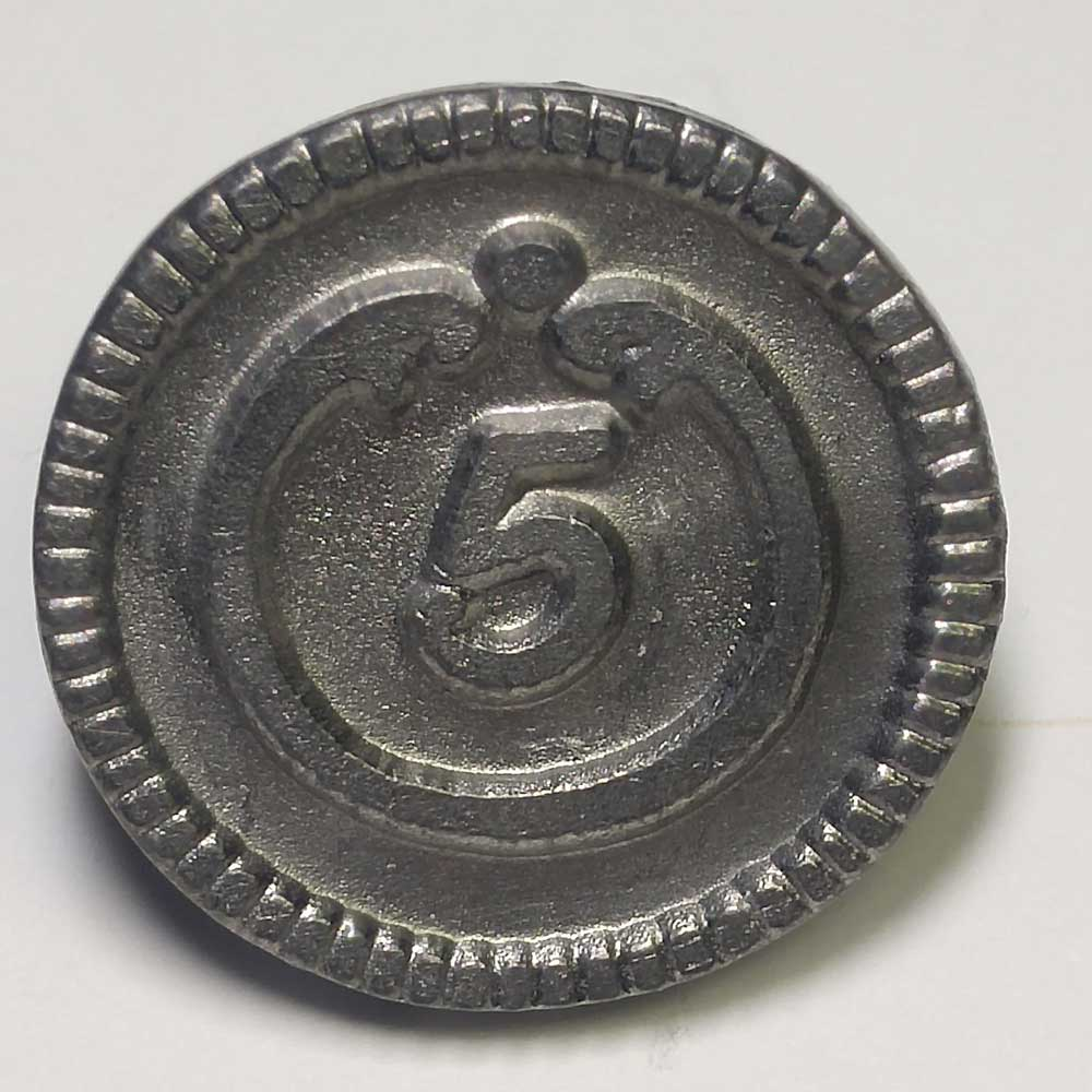 5th Regiment, Pewter