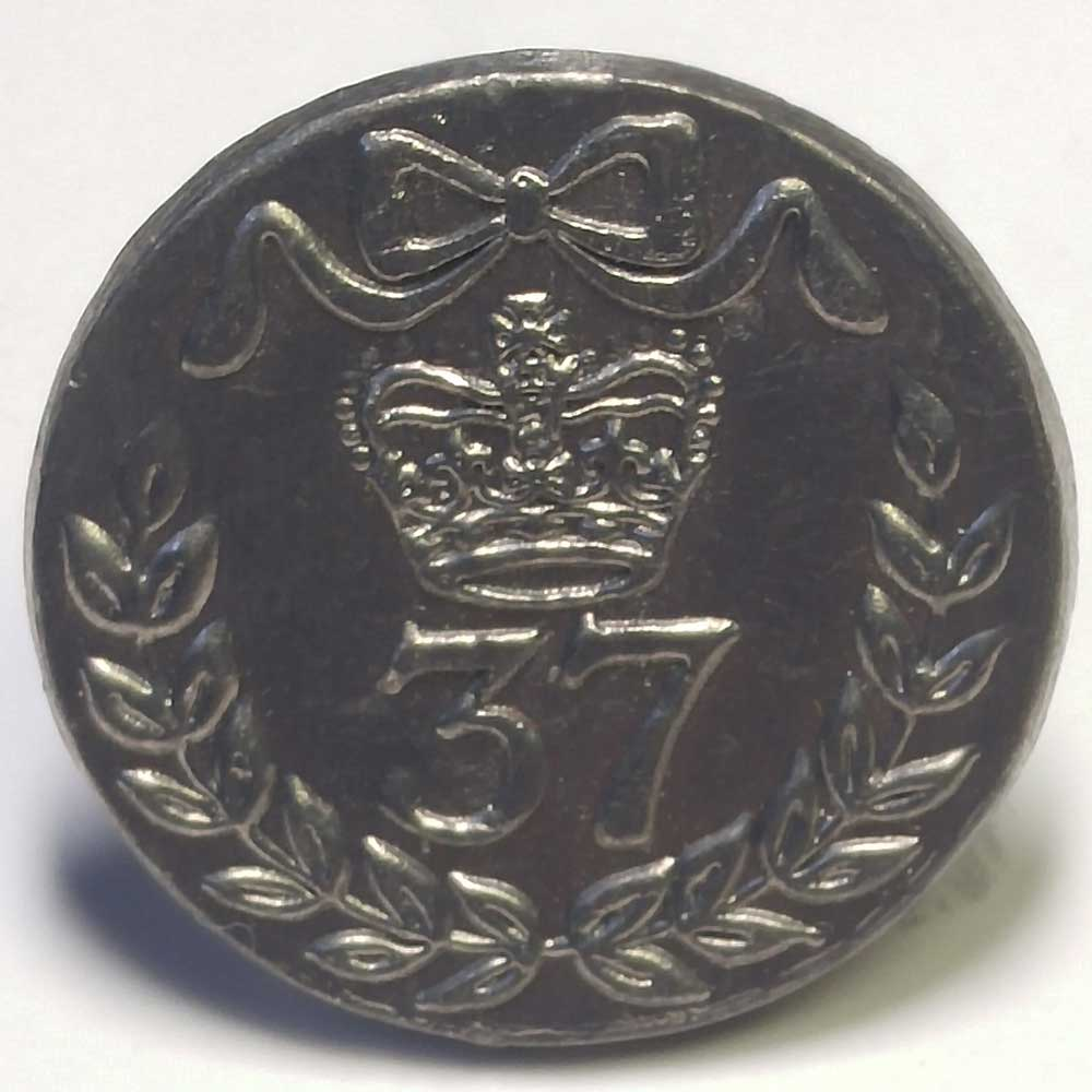 37th Regiment, Pewter, 7/8""