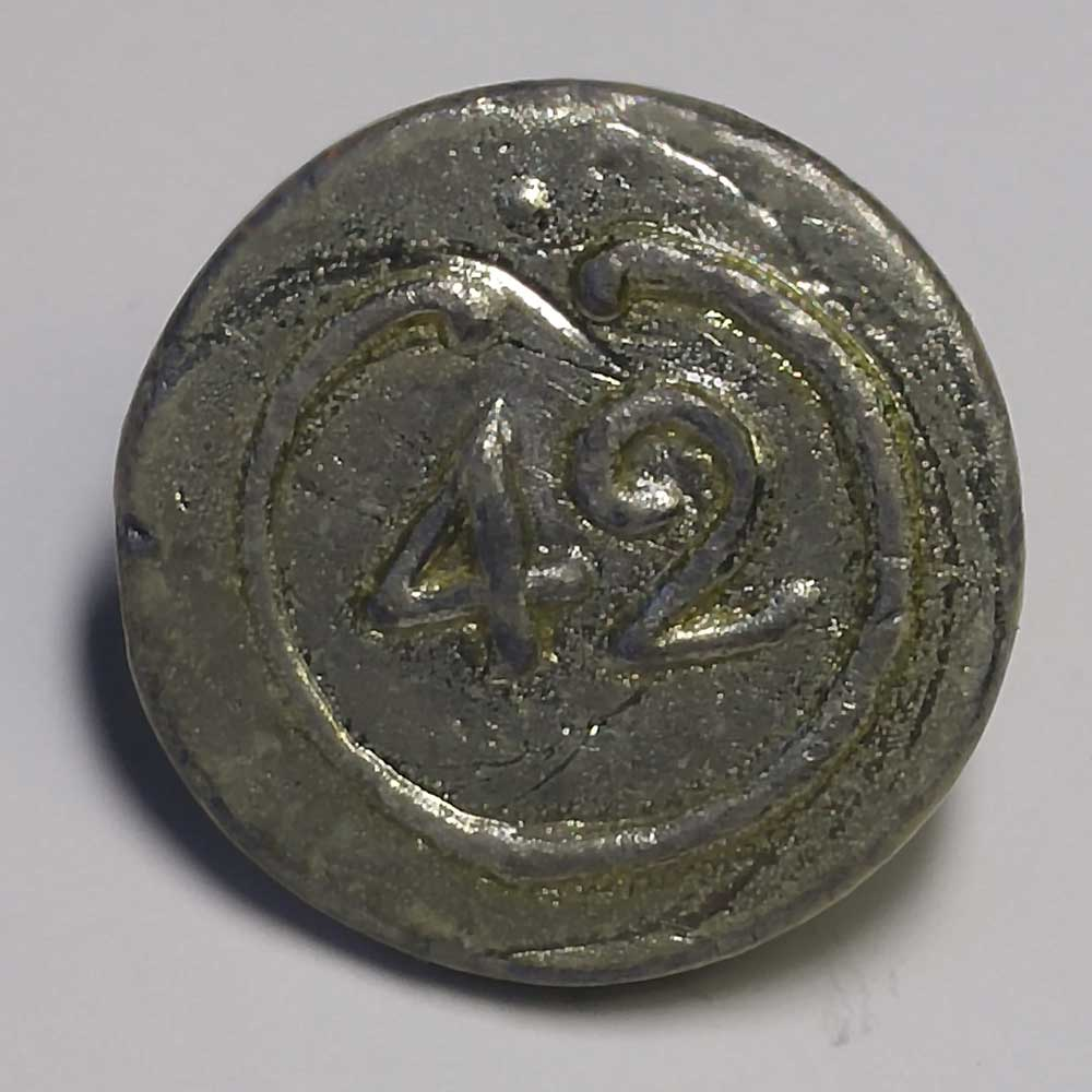42nd Regiment, Pewter, 7/8""