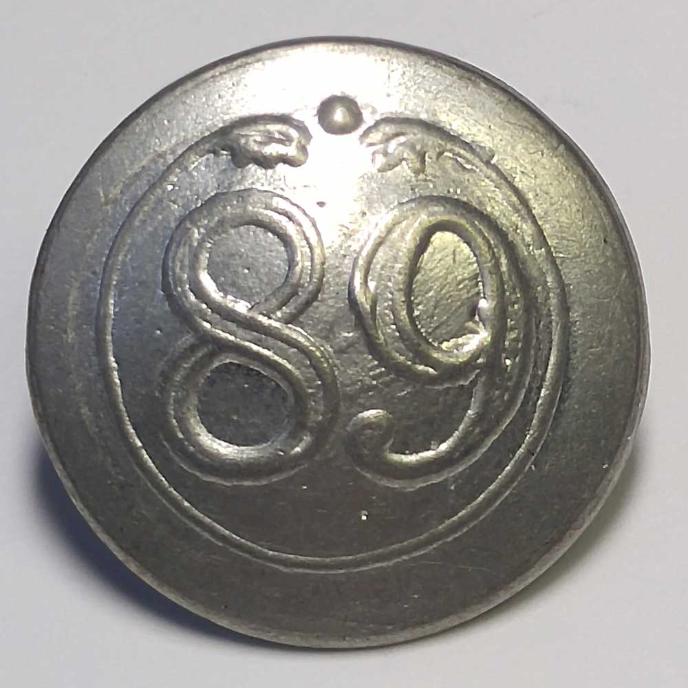 89th Regiment, Pewter, 13/16""