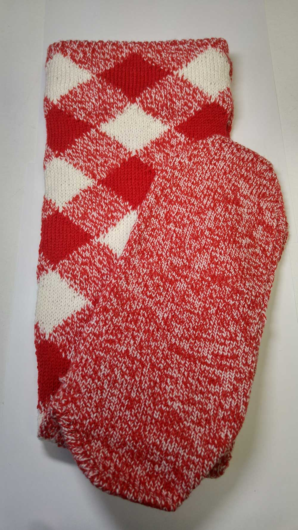 Hose: Red/White, Mach Knit