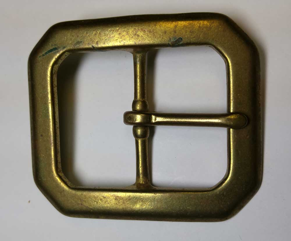 "Buckle: 1-1/2"", Rect, Brass"