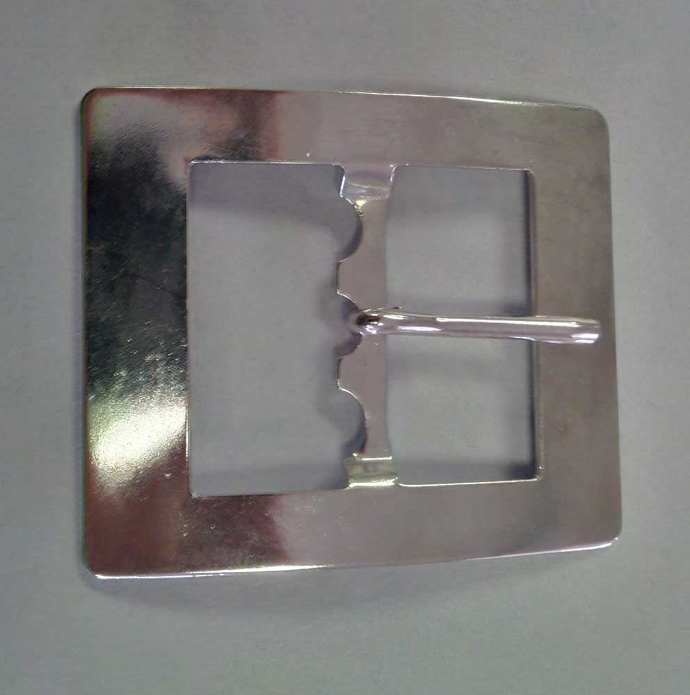 Highland Shoe Buckle, Nickel, Single Prong