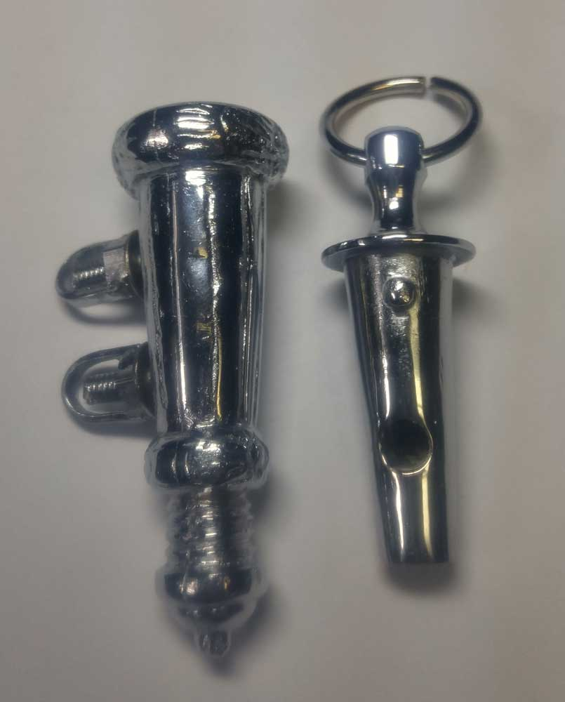 Whistle: Rifles & Light Company with Holder, Nickel