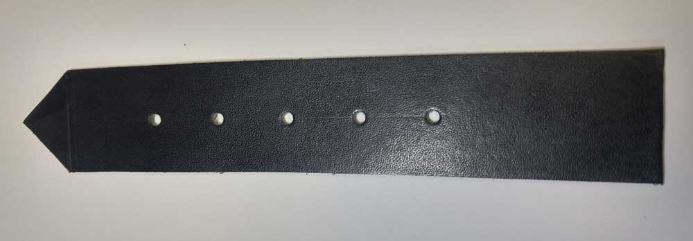 Kilt Strap, Leather, Black
