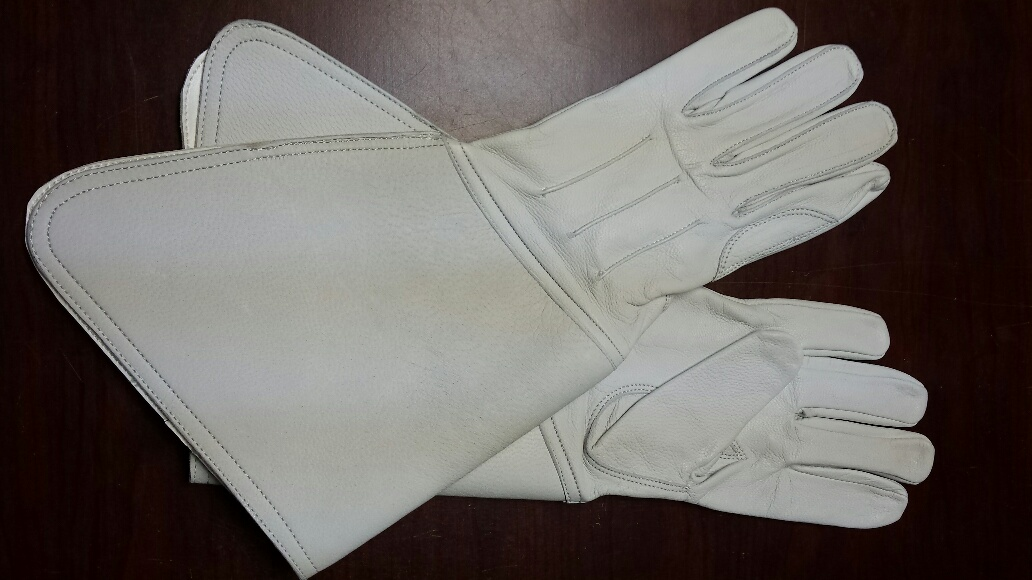 Leather Gauntlets, Buff