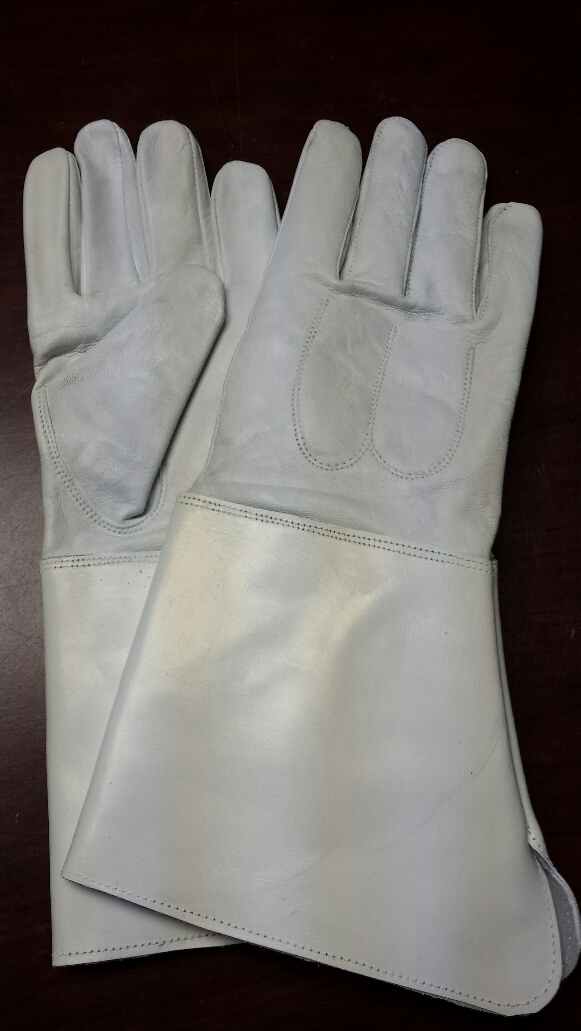 Leather Guantlets, White