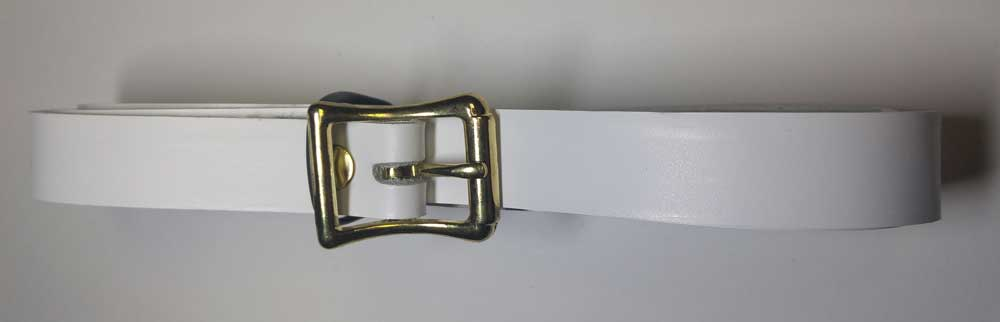 Sporran Belt: White Leather