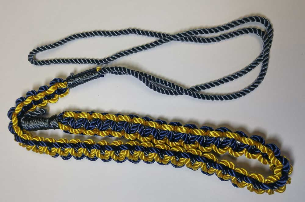 Shoulder Cord, Blue & Gold, Small