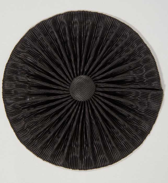 Cockade: Black Silk Moire, 2-1/4""