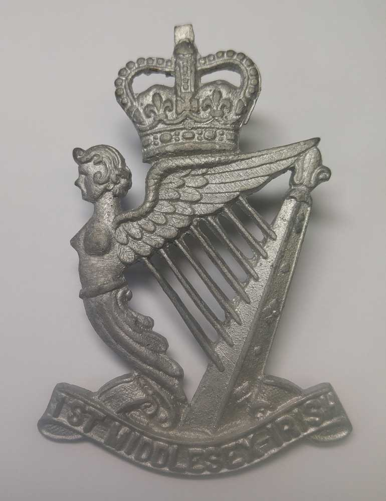 Badge: 1st Middlesex Irish
