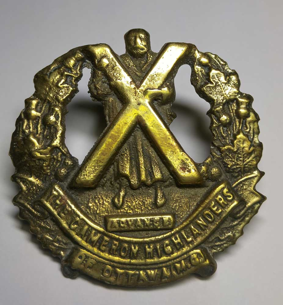 Badge: Cameron Highlanders of Ottawa, Brass