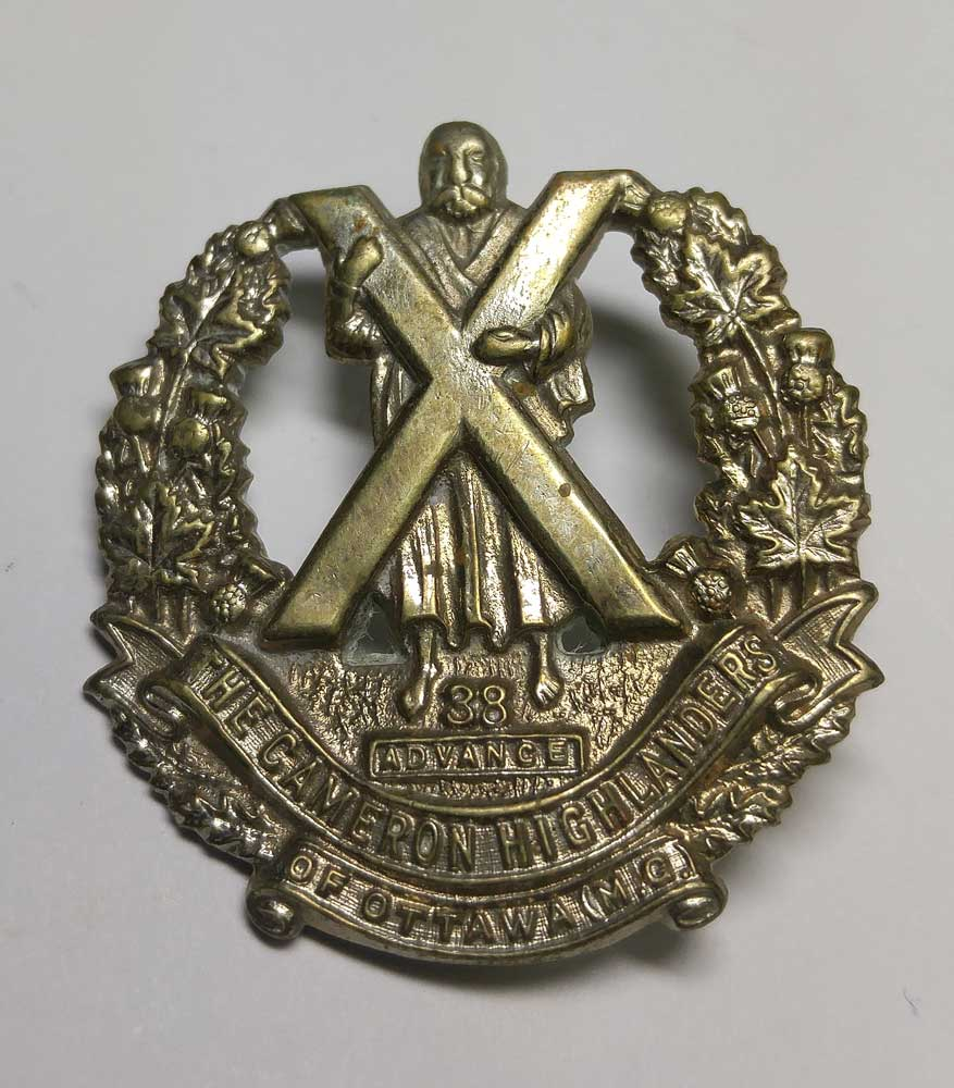 Badge: Cameron Highlanders of Ottawa, Mini Cap