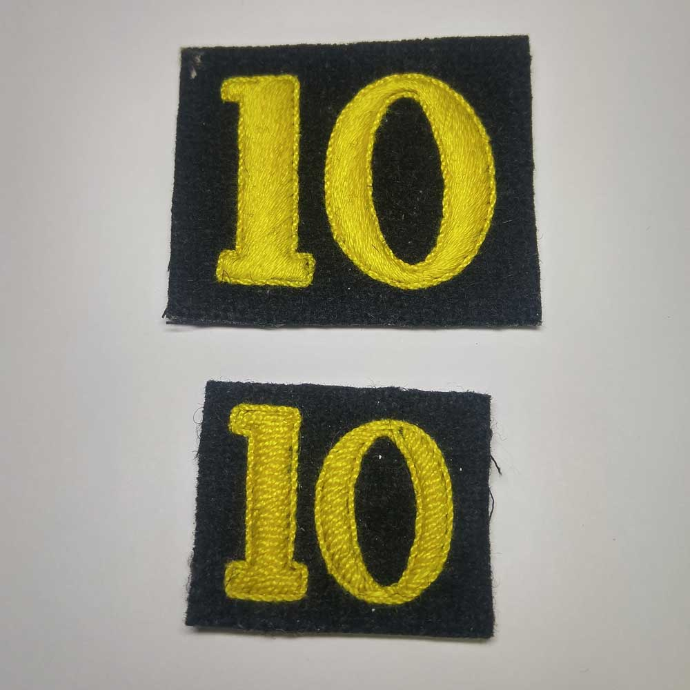 Badge: Regimental Number 10