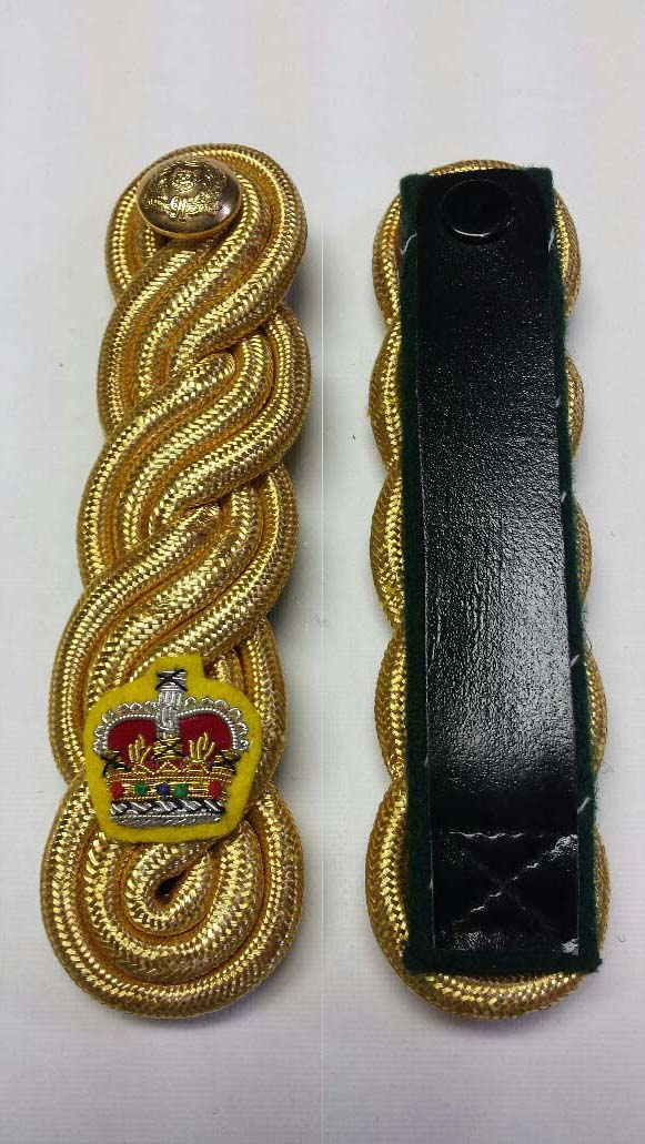 "Shoulder Twist, Gold, with Crown/Button, 140mm (5-1/2"")"
