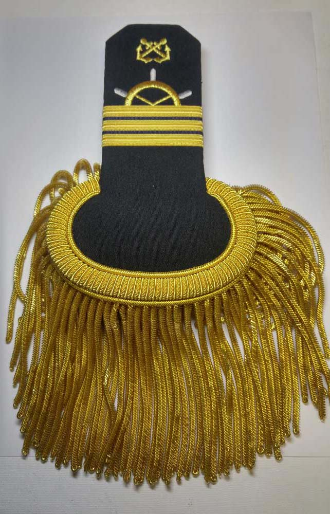 "Epaulettes, Naval, Commander, Gold, 178mm (7"")"