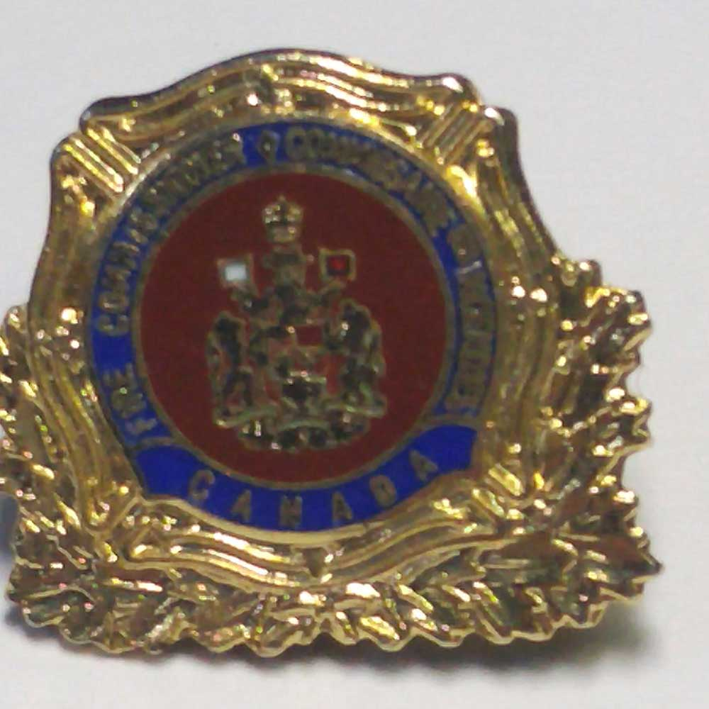 Lapel Pin: Canada, Fire Commissioner