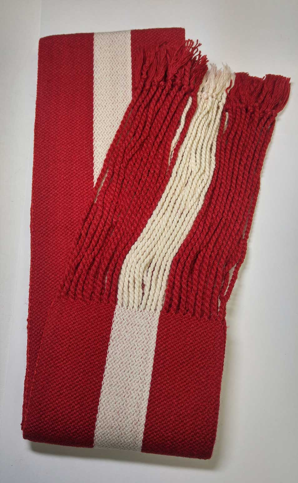 Sash: Sgt., Red with White Stripe, 18/19C
