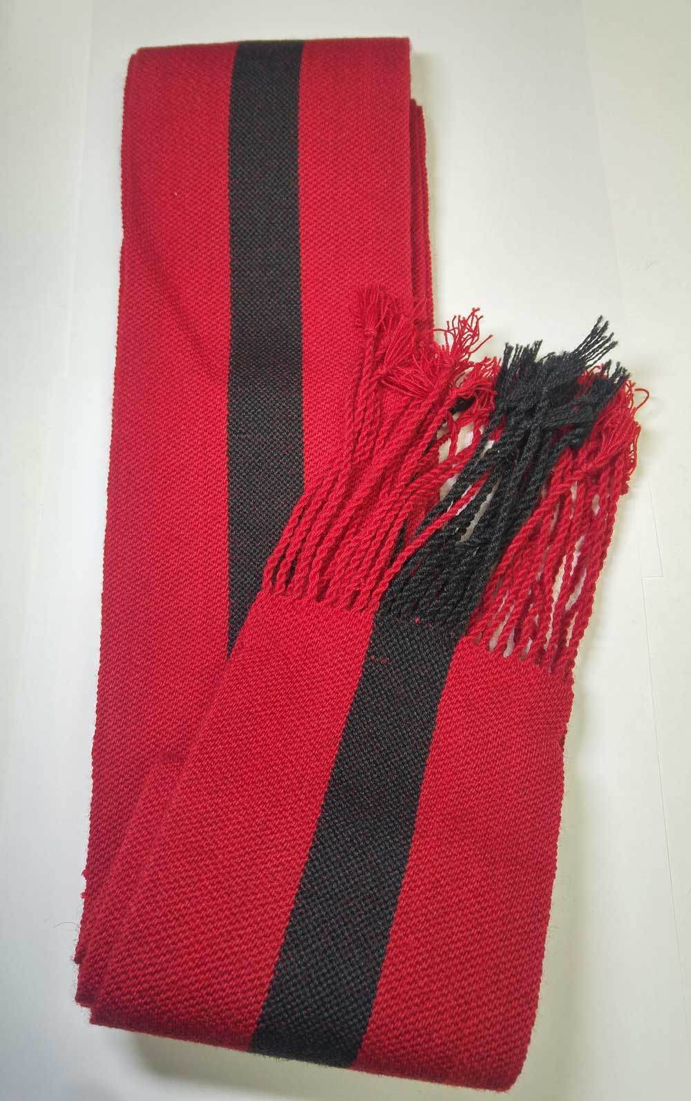 Sash: Sgt., Red with Black Stripe, 18/19C