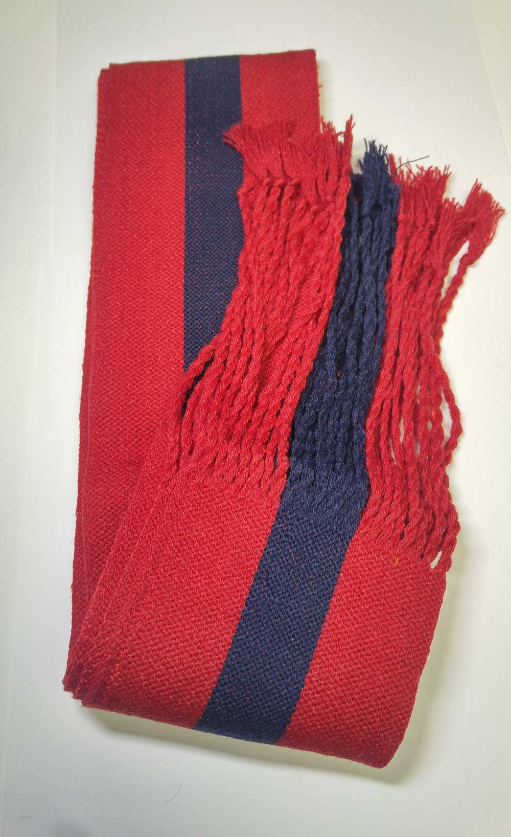 Sash: Sgt., Red with Blue Stripe, 18/19C