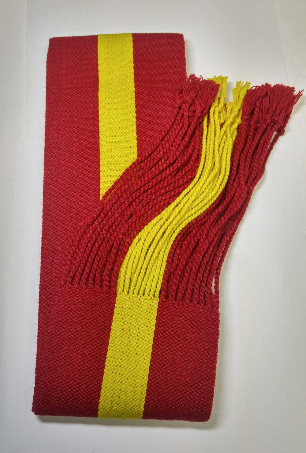 Sash: Sgt., Red with Yellow Stripe, 18/19C