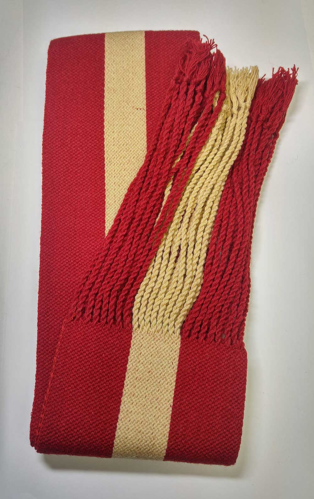 Sash: Sgt., Red with Buff Stripe, 18/19C