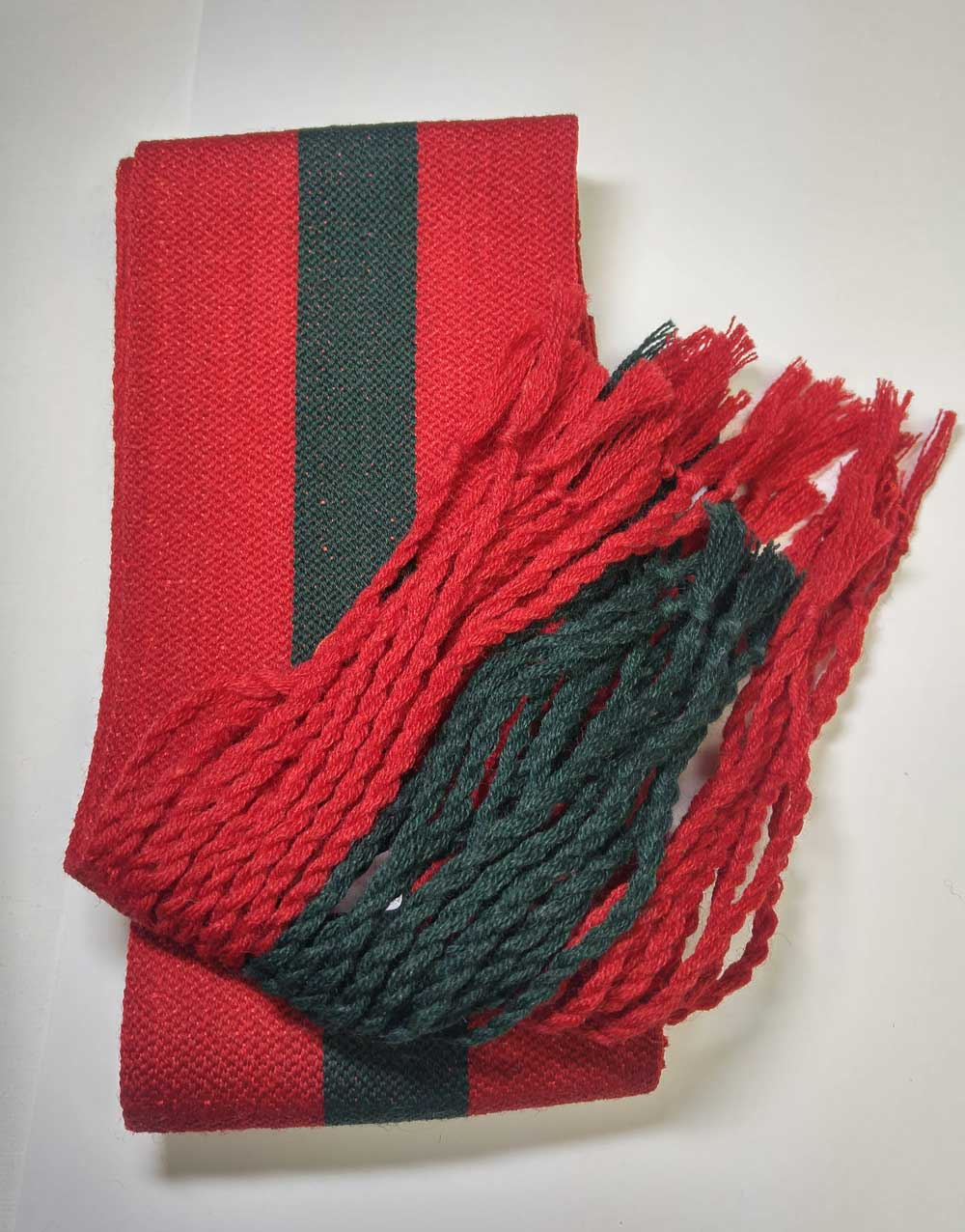 Sash: Sgt., Red with Green Stripe, 18/19C